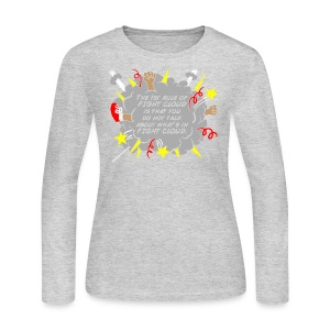 The Rules of Fight Cloud - Women's Long Sleeve Jersey T-Shirt