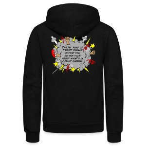 The Rules of Fight Cloud - Unisex Fleece Zip Hoodie by American Apparel