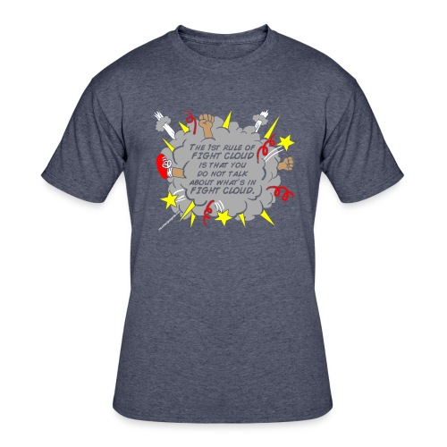 The Rules of Fight Cloud - Men's 50/50 T-Shirt
