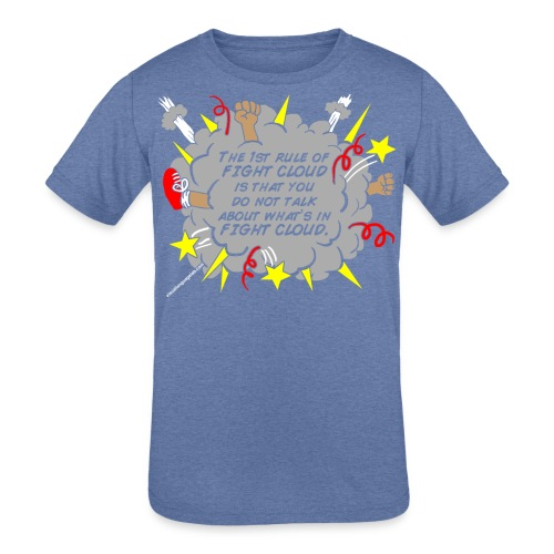 The Rules of Fight Cloud - Kid's Tri-Blend T-Shirt