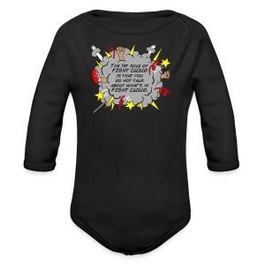 The Rules of Fight Cloud - Long Sleeve Baby Bodysuit