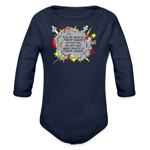 The Rules of Fight Cloud - Organic Long Sleeve Baby Bodysuit