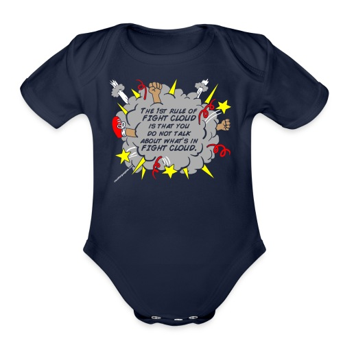 The Rules of Fight Cloud - Organic Short Sleeve Baby Bodysuit