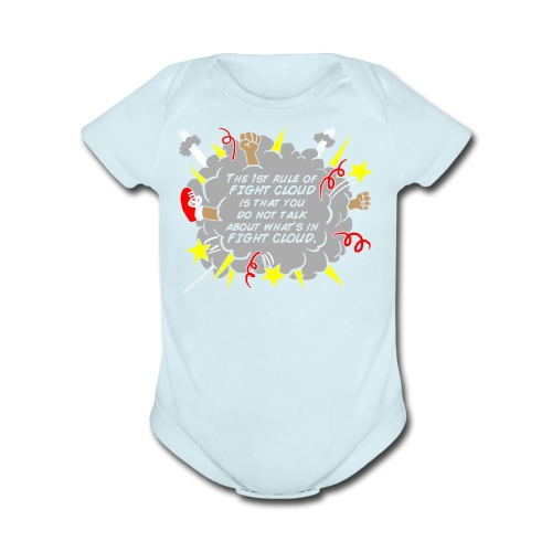 The Rules of Fight Cloud - Short Sleeve Baby Bodysuit