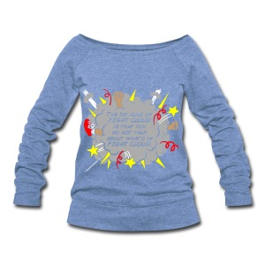 The Rules of Fight Cloud - Women's Wideneck Sweatshirt
