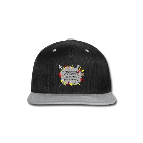 The Rules of Fight Cloud - Snap-back Baseball Cap
