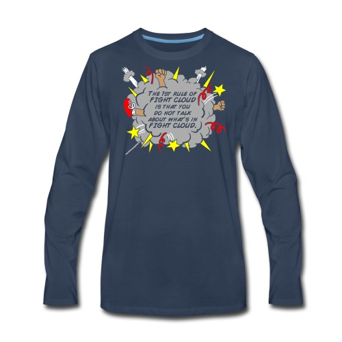 The Rules of Fight Cloud - Men's Premium Long Sleeve T-Shirt