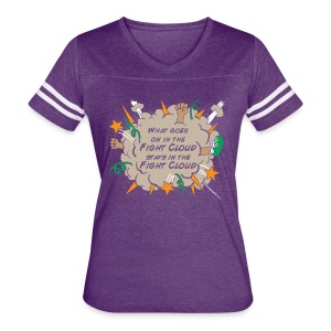 What goes on in Fight Clouds? - Women's Vintage Sport T-Shirt