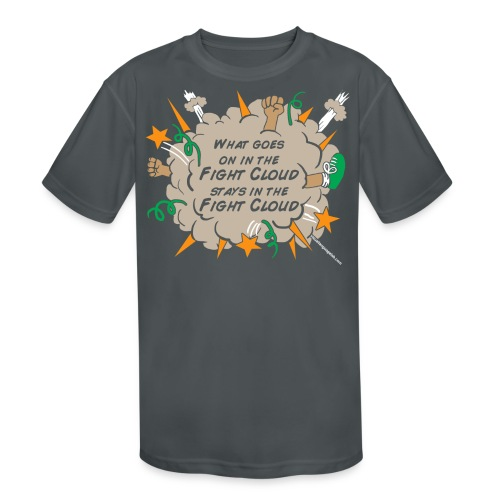 What goes on in Fight Clouds? - Kid's Moisture Wicking Performance T-Shirt