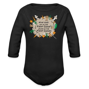 What goes on in Fight Clouds? - Long Sleeve Baby Bodysuit