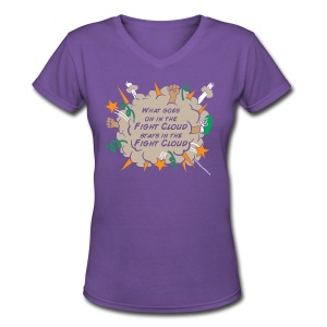 What goes on in Fight Clouds? - Women's V-Neck T-Shirt