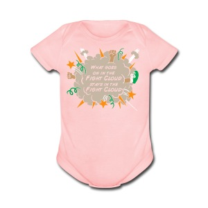 What goes on in Fight Clouds? - Short Sleeve Baby Bodysuit