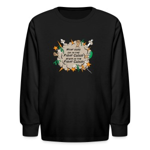 What goes on in Fight Clouds? - Kids' Long Sleeve T-Shirt