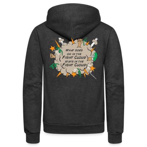 What goes on in Fight Clouds? - Unisex Fleece Zip Hoodie