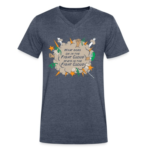 What goes on in Fight Clouds? - Men's V-Neck T-Shirt by Canvas