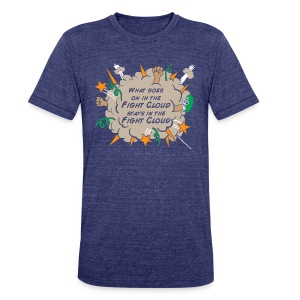 What goes on in Fight Clouds? - Unisex Tri-Blend T-Shirt