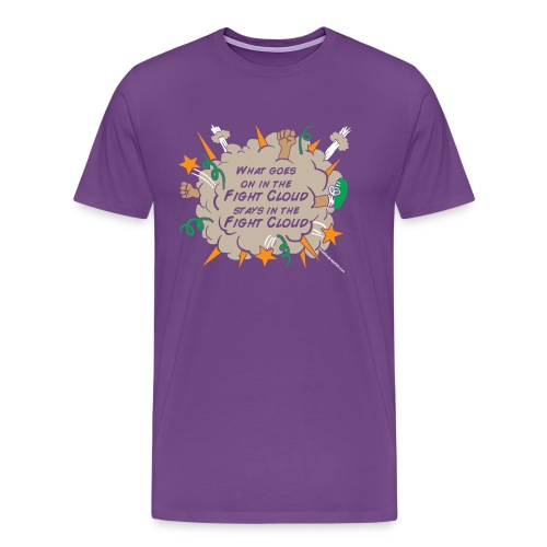 What goes on in Fight Clouds? - Men's Premium T-Shirt
