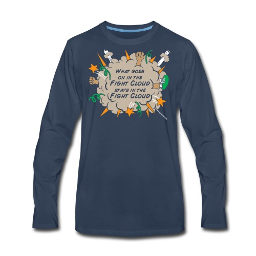 What goes on in Fight Clouds? - Men's Premium Long Sleeve T-Shirt