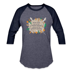 What goes on in Fight Clouds? - Baseball T-Shirt
