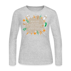 What goes on in Fight Clouds? - Women's Long Sleeve Jersey T-Shirt