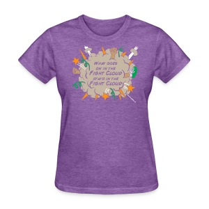 What goes on in Fight Clouds? - Women's T-Shirt