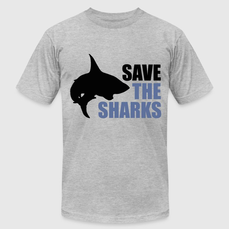 Save the sharks - Men's T-Shirt by American Apparel