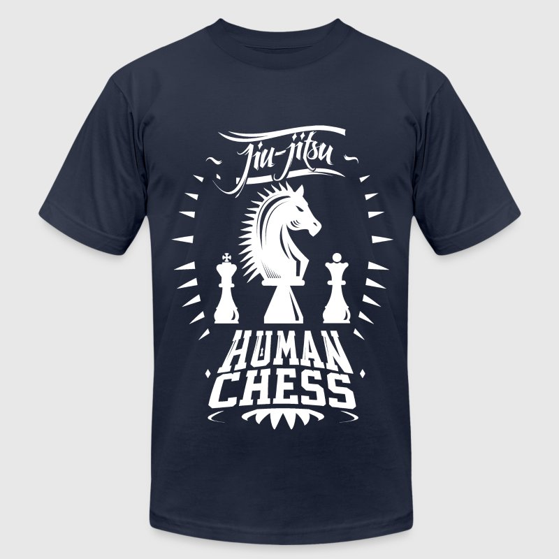 Jiu Jitsu Human Chess Shirt - Men's T-Shirt by American Apparel