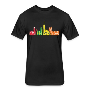 Chicago Hockey Skyline - Fitted Cotton/Poly T-Shirt by Next Level