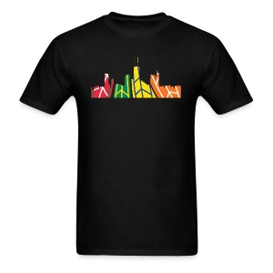 Chicago Hockey Skyline - Men's T-Shirt