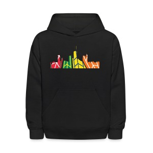 Chicago Hockey Skyline - Kids' Hoodie