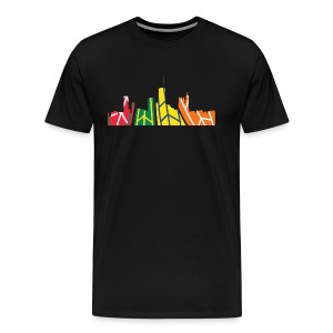 Chicago Hockey Skyline - Men's Premium T-Shirt