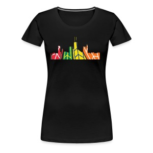 Chicago Hockey Skyline - Women's Premium T-Shirt