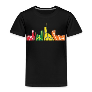 Chicago Hockey Skyline - Toddler Premium T-Shirt