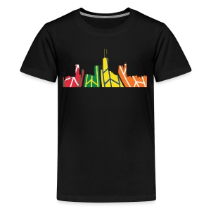 Chicago Hockey Skyline - Kids' Premium T-Shirt