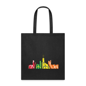 Chicago Hockey Skyline - Tote Bag