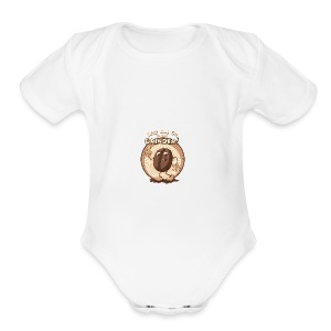 coffee caffeine java starbucks sugar buzz - Short Sleeve Baby Bodysuit