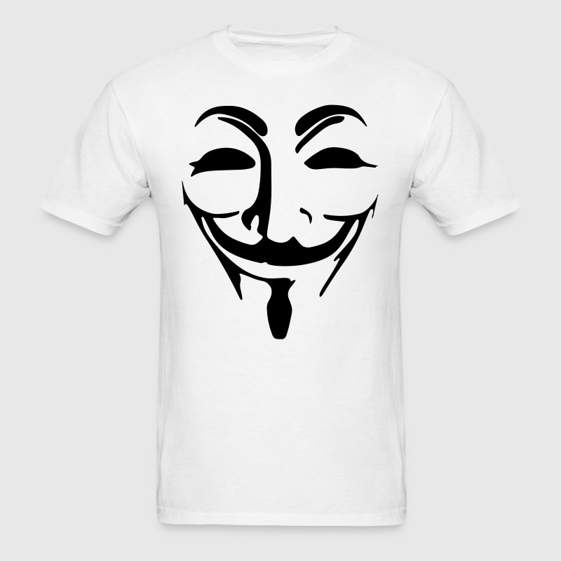 Anonymous Mask Black Vector T-Shirts - Men's T-Shirt