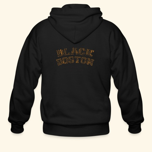 Souvenir Buttons labeled Black Boston Massachusetts - Men's Zip Hoodie