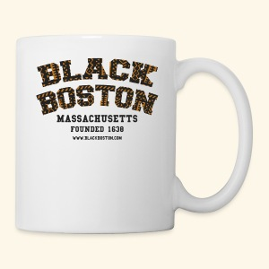 Souvenir Buttons labeled Black Boston Massachusetts - Coffee/Tea Mug