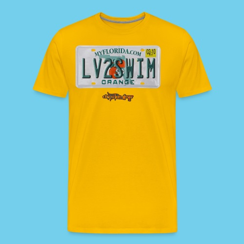 NEW PRODUCT SPECIAL, $3 off!! License Plate Tee- Men's - Men's Premium T-Shirt