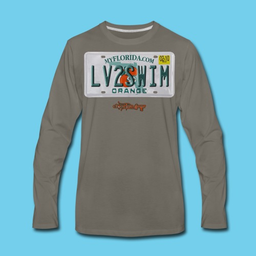 NEW PRODUCT SPECIAL, $3 off!! License Plate Tee- Men's - Men's Premium Long Sleeve T-Shirt