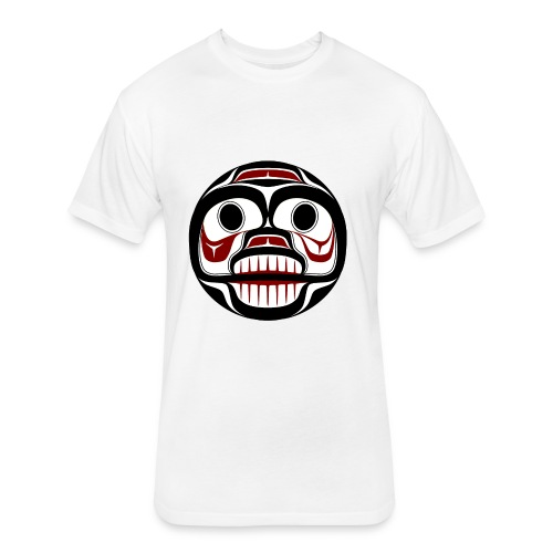 Northwest Pacific coast Haida Weeping skull - Fitted Cotton/Poly T-Shirt by Next Level