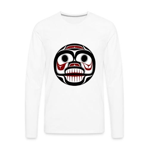 Northwest Pacific coast Haida Weeping skull - Men's Premium Long Sleeve T-Shirt