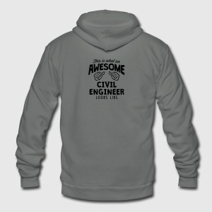 awesome civil engineer looks like - Unisex Fleece Zip Hoodie by American Apparel