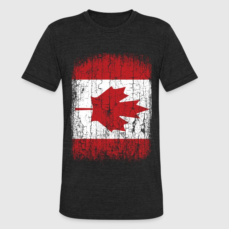 Vintage Canada Flag T-Shirts - Unisex Tri-Blend T-Shirt by American Apparel