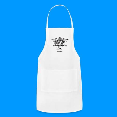 BLACK LETER IDM - LOGO ON BACK - Adjustable Apron