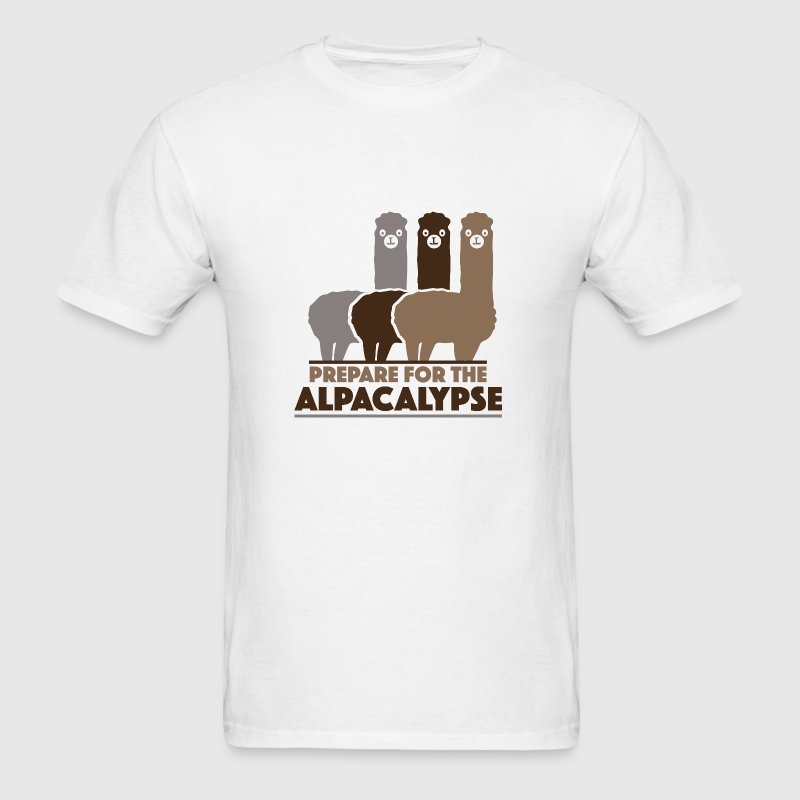 Prepare For The Alpacalypse - Men's T-Shirt