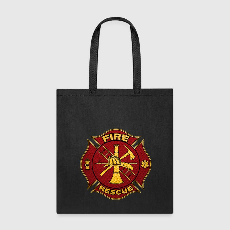 Diamond Plate Steel Firefighter Maltese Cross Bags & backpacks - Tote Bag