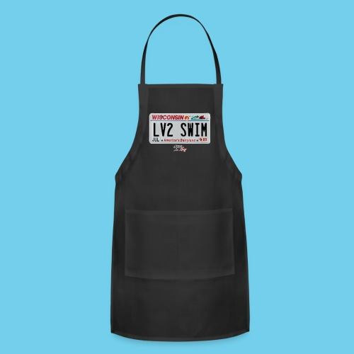 LIMITED TIME SALE!! $3 OFF Product Intro! WI LV2SWIM License Plate Tee - Adjustable Apron