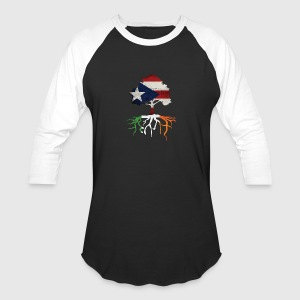 Puerto Rican Rico Irish Ireland Rotos Long Sleeve Shirts - Baseball T-Shirt